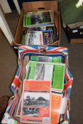 BOX OF BRITISH RAILWAYS ILLUSTRATED MAGAZINES DATING FROM NOVEMBER 91 INCLUDING VOL 1 NO 1