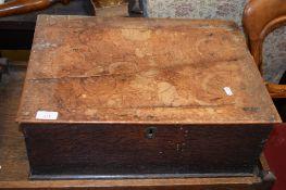 OAK BIBLE BOX (A/F), 18TH/19TH CENTURY, 52CM WIDE