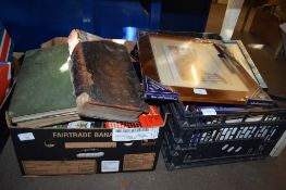 TWO BOXES OF BOOKS INCLUDING THE DECORATION AND FURNITURE OF ENGLISH MANSIONS DURING THE 17TH/18TH