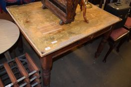 LATE 19TH CENTURY PINE KITCHEN TABLE (ALTERED), 107CM WIDE