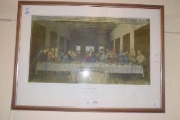 PRINT OF THE LAST SUPPER AFTER LEONARDO DA VINCI