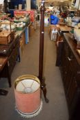 MAHOGANY LAMP STANDARD, 163CM HIGH