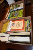 TWO BOXES OF GARDENING AND OTHER BOOKS
