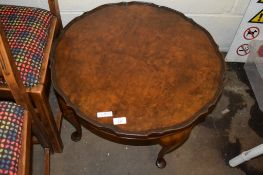 REPRODUCTION CIRCULAR PIE CRUST OCCASIONAL TABLE, 63CM DIAM