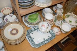 CERAMIC WARES, CUPS AND SAUCERS