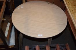 SCRUB TOP CIRCULAR OCCASIONAL TABLE, 60.5CM DIAM