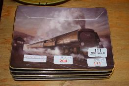 """PLATES """"THE POWER OF STEAM"""" PUBLISHED BY THE BRADFORD EXCHANGE"""