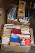 THREE BOXES OF BOOKS, VARIOUS TITLES
