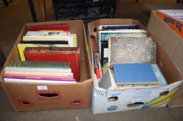 TWO BOXES OF BOOKS INCLUDING NORFOLK IN THE 20TH CENTURY ETC