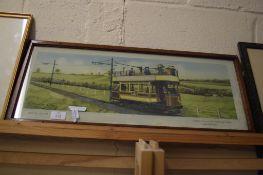 PRINT OF THE ELECTRIC TRAM ON THE BURTON & ASHBY LIGHT RAILWAYS PUBLISHED BY C HAMILTON ELLIS