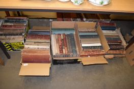 SEVEN BOXES OF BOOKS, MAINLY COLLECTIONS OF PUNCH FROM 1880S ONWARDS