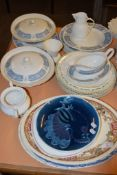 GROUP OF CERAMIC ITEMS INCLUDING SERVING DISHES, PART DINNER SERVICE BY JOHNSON BROS IN THE SNOW