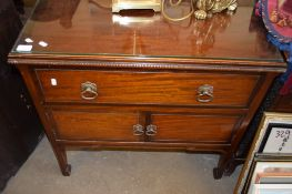 REPRODUCTION MAHOGANY WASH STAND, 77CM WIDE