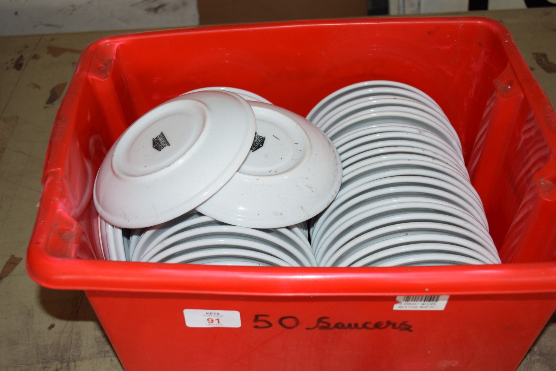 Crate: 50 Saucers.