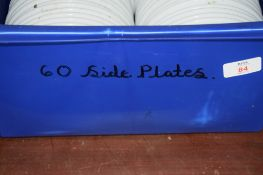 Crate: 60 white Side Plates.