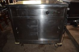 Stainless steel electric Heated Cupboard.
