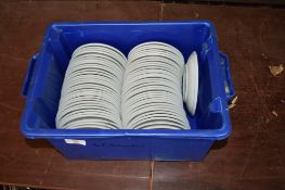 Crate: 67 white Saucers.