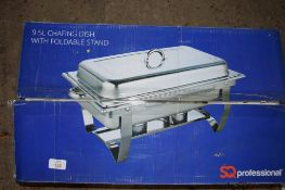 Boxed 9.5l Chafing Dish and Stand.