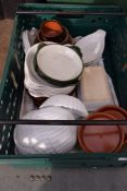 Crate: lge qty various earthenware and other Serving Dishes,