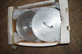 Box: various aluminium Pot Lids.
