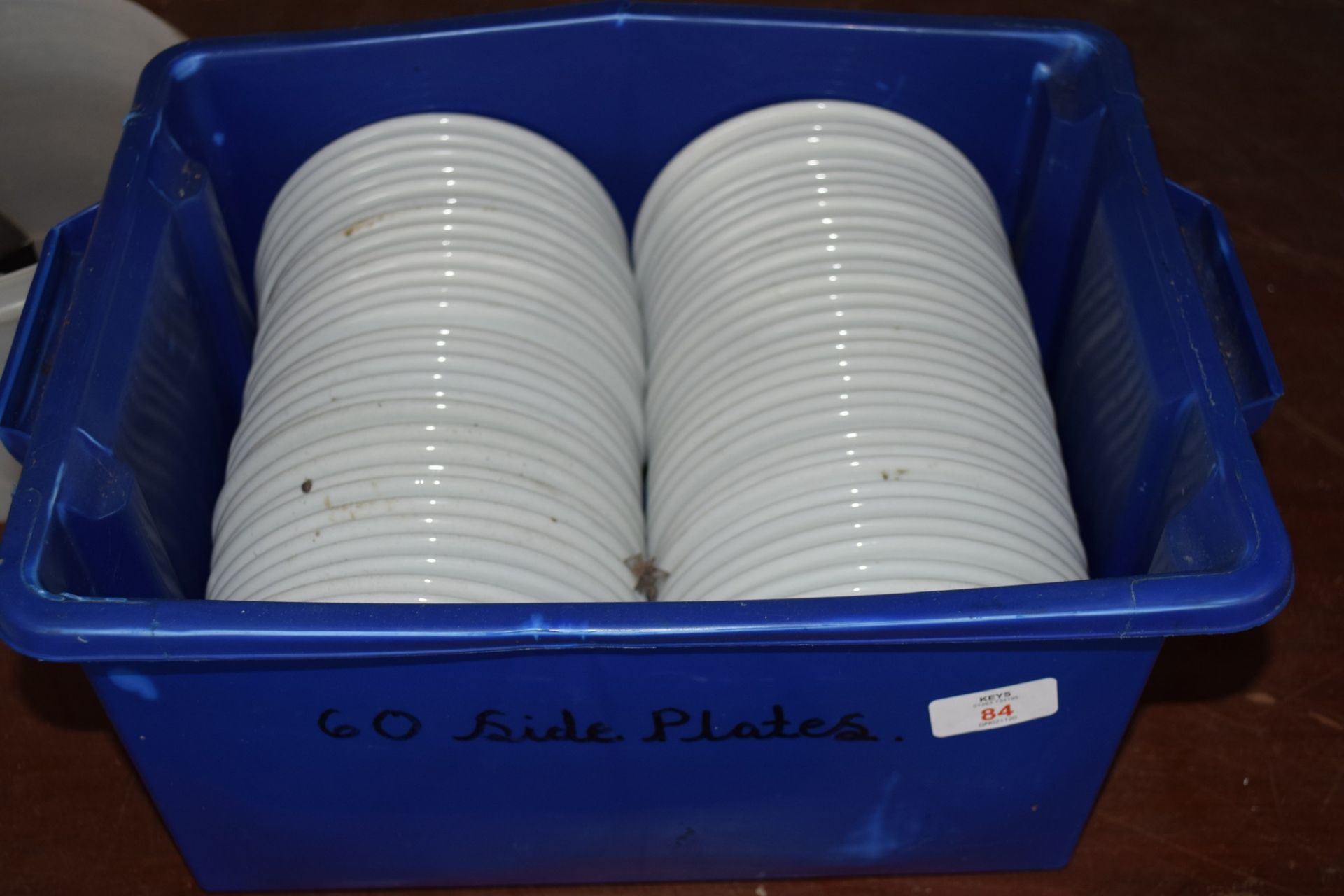 Crate: 60 white Side Plates. - Image 2 of 3