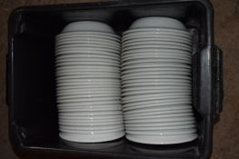 Crate: 61 large white Bowls.
