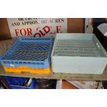 Four plastic Dishwasher Trays (suit Hobart or similar)