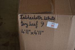 Box: Tablecloths, Ivy Leaf, approx 4'11 sq.