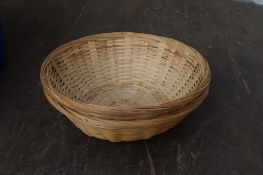 Crate: 18 round Bread Baskets and two Rectangular.