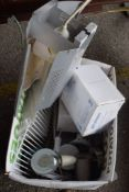 BOX CONTAINING MISCELLANEOUS ELECTRICAL LIGHT FITTINGS, DOWNLIGHTS ETC