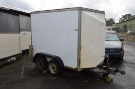 TWIN AXLE BOX TRAILER, APPROX 8FT X 5FT