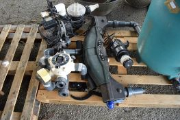 TANK TOGETHER WITH VARIOUS PUMPS ETC