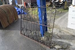 ORNATE WROUGHT IRON GATE, WIDTH APPROX 144CM