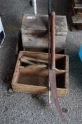 SELECTION OF WOODEN TOOL BOXES ETC