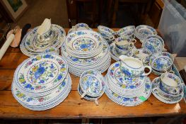 MASON'S IRONSTONE DINNER WARES IN THE REGENCY PATTERN COMPRISING QUANTITY OF DINNER PLATES, SIDE
