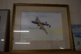 WATERCOLOUR OF A HALIFAX SIGNED J LYON