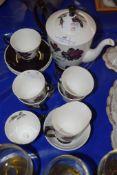 ROYAL ALBERT TEA WARES IN THE MASQUERADE PATTERN