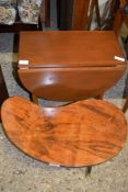 RETRO COFFEE TABLE AND SMALL MAHOGANY DROP LEAF TABLE