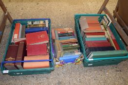 THREE BOXES OF BOOKS INCLUDING ENCYCLOPAEDIA OF GOLF ETC