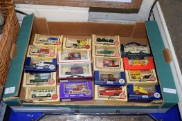 BOX CONTAINING MODEL CARS, MAINLY LLEDO