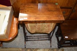 19TH CENTURY MAHOGANY WORK TABLE (CONVERTED FROM THE LARGEST OF A NEST), 51CM WIDE