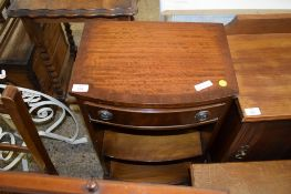 REPRODUCTION MAHOGANY BEDSIDE CABINET, 41.5CM WIDE