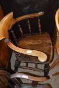 LATE 19TH/EARLY 20TH CENTURY SMOKERS BOW CHAIR
