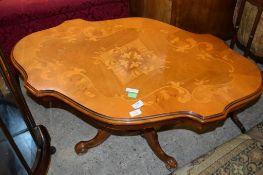 ITALIAN REPRODUCTION PEDESTAL TABLE, 97CM LONG