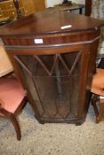 REPRODUCTION GLAZED FRONT CORNER CUPBOARD, 58CM WIDE