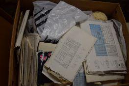 BOX OF VARIOUS SEWING PATTERNS, WOOL ETC