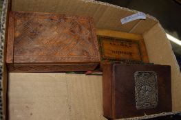 BOX CONTAINING VARIOUS WOODEN BOXES