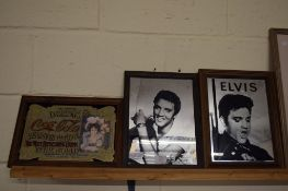 GLASS PICTURES INCLUDING TWO OF ELVIS