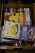 BOX CONTAINING CDS AND DVDS