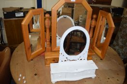 TWO MODERN DRESSING TABLE MIRRORS